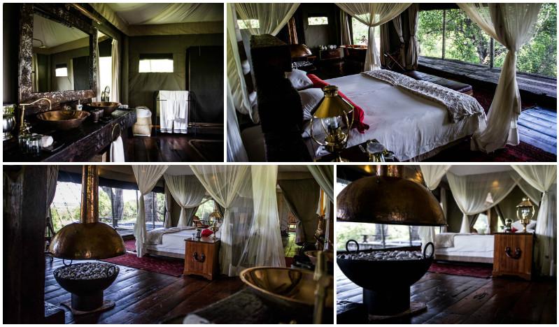 The rooms at Zarafa camp, overlooking the beautiful Zibadianja lagoon.